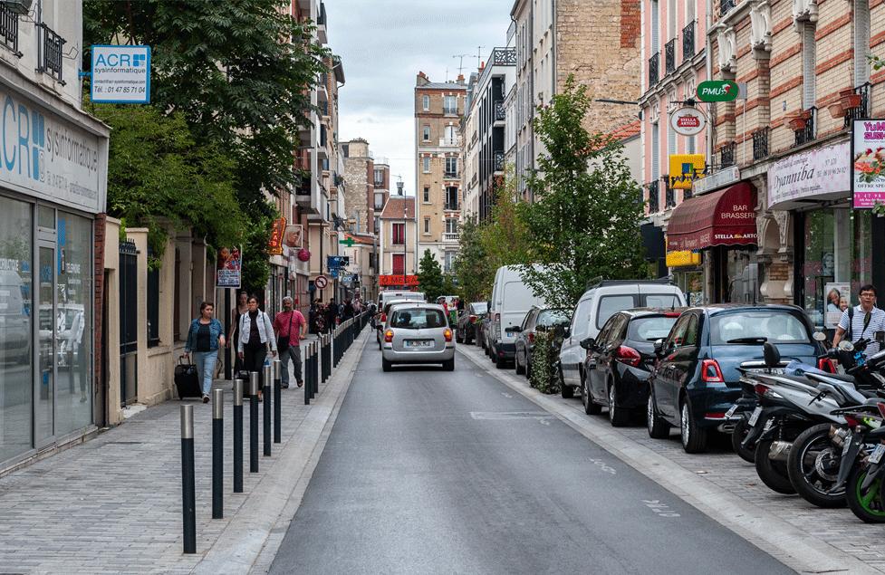 Vue rue Asnieres-sur-Seine